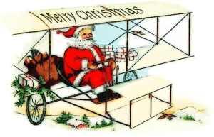 Santa_flying_biplane_1909